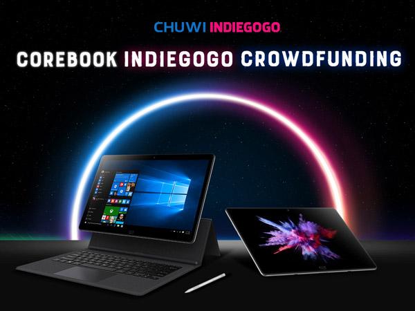 CHUWI запускает новый гибридный планшет CoreBook на процессоре Intel Core 7 поколения