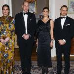 Беременная Кейт Миддлтон выбрала горчичное платье для ужина с членами королевской семьи Швеции