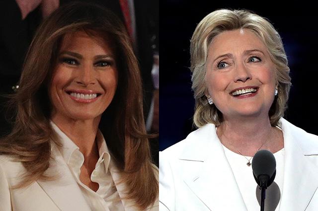 Мнение в сети: Мелания Трамп повторила образ Хилари Клинтон в отместку мужу из-за скандала с изменами