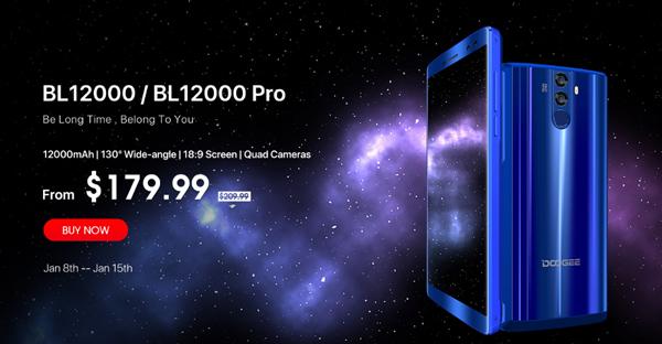 Смартфон DOOGEE BL12000: невероятно мощный аккумулятор, инновационные функции и доступный ценник