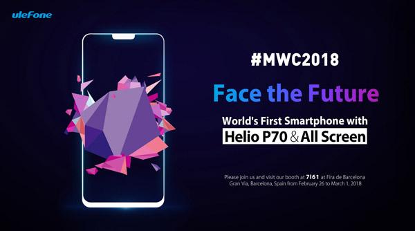 Ulefone T2 Pro станет первым в мире смартфоном на чипсете MediaTek Helio P70