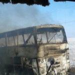 В Казахстане 52 человека сгорели заживо в автобусе
