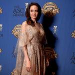 Анджелина Джоли в кружевном платье от Elie Saab пришла на церемонию вручения премий Американского общества кинооператоров