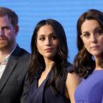33112 Меган Маркл и Кейт Миддлтон с принцами Гарри и Уильямом приняли участие в форуме Royal Foundation