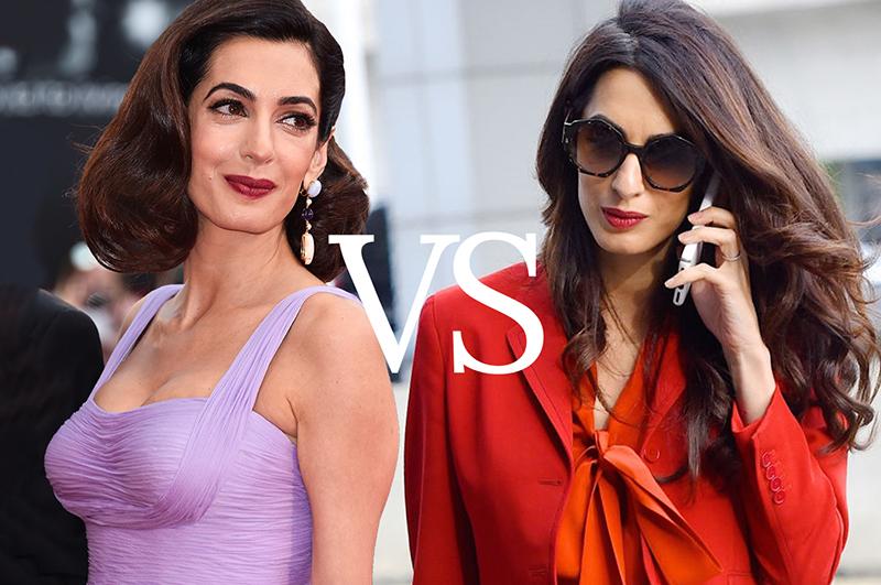 Романтичная vs деловая: 10 любимых модных приемов Амаль Клуни