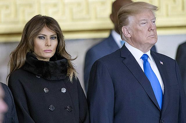После выхода скандального интервью Сторми Дэниелс Мелания Трамп не появилась на публике вместе с мужем