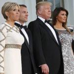 36877 Дональд и Мелания Трамп устроили ужин в Белом доме в честь Эммануэля и Брижит Макрон