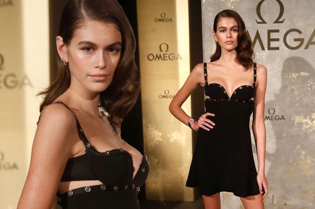 Кайя Гербер в маленьком черном платье Versace стала зведой торжественного приема в Берлине