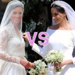 Кейт Миддлтон vs Меган Маркл: в сети сравнивают свадебные платья жен британских принцев