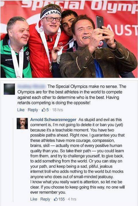 «Паралимпиада — это бред, соревнования среди отсталых…» Вот как на это ответил сам Шварценеггер!