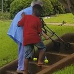 40585 8-летний парнишка попросил маму срочно остановить авто. Он выбежал из малины и подбежал к бабушке…