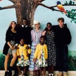 41938 Мадонна со всеми своими детьми приехала в Малави и показала редкие семейные кадры