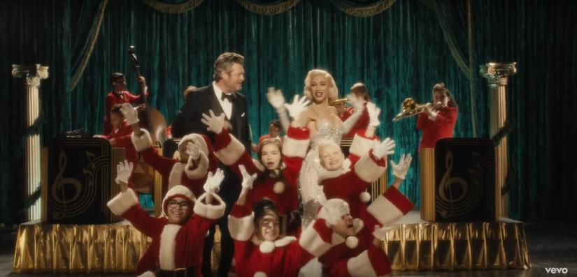 43841 Gwen Stefani ft. Blake Shelton — You Make It Feel Like Christmas, новый клип