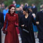 44256 Кейт Миддлтон, Меган Маркл, принцы Уильям и Гарри посетили рождественскую службу