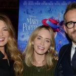Блейк Лайвли, Райан Рейнольдс и Эмили Блант на спецпоказе фильма «Мэри Поппинс возвращается»