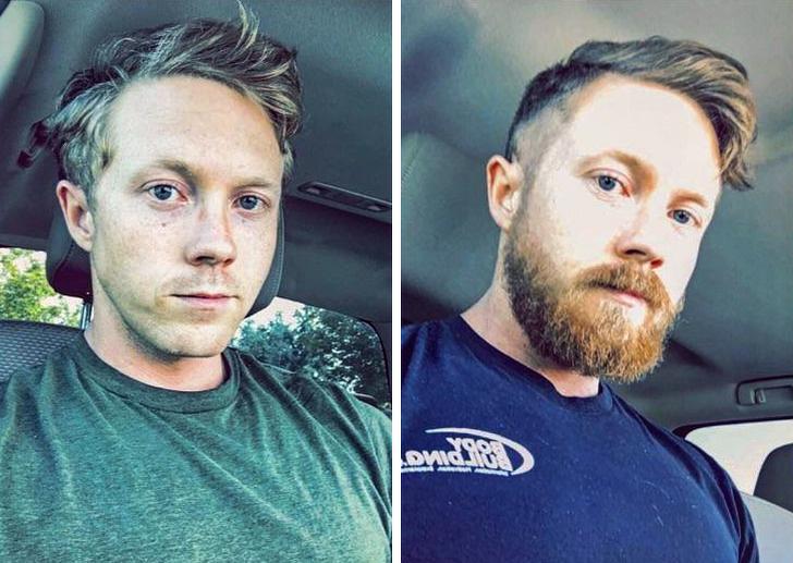 45193 15 фотодоказательств того, что мужчина с бородой и без — два разных человека