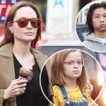 Шопинг и мороженое: Анджелина Джоли на прогулке с сыном Паксом и дочерью Вивьен