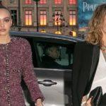46118 Лили-Роуз Депп вместе с мамой Ванессой Паради на вечеринке Chanel в Париже