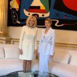 46691 Елена Зеленская затмила жену Президента Франции своим элегантным нарядом