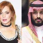 """47386 СМИ: Линдси Лохан завязала """"близкую дружбу"""" с принцем Саудовской Аравии Мухаммедом бен Салманом"""