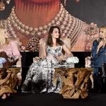 """48217 Анджелина Джоли, Мишель Пфайффер и Эль Фаннинг на пресс-конференции фильма """"Малефисента: Владычица тьмы"""""""