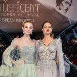 48373 Анджелина Джоли с детьми и Эль Фаннинг на премьере новой «Малефисенты» в Лондоне
