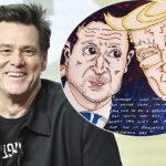 48357 Джим Керри пополнил коллекцию своих карикатур шаржем на Владимира Зеленского и Дональда Трампа
