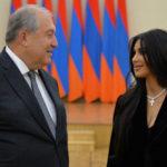 48349 Ким Кардашьян встретилась с президентом Армении Арменом Саркисяном