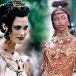 48501 КультПоказ: полуобнаженная Шалом Харлоу и Наоми Кэмпбелл в золоте на кутюрном показе Dior эпохи Джона Гальяно