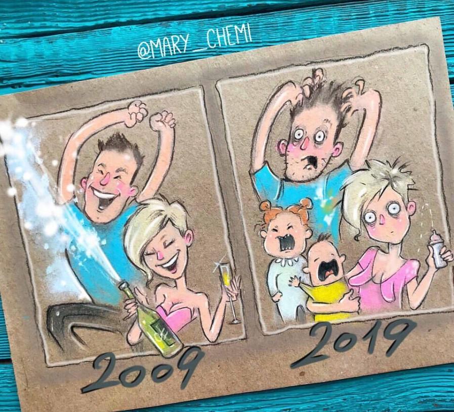 48621 Забавные комиксы о мамской жизни от талантливой художницы