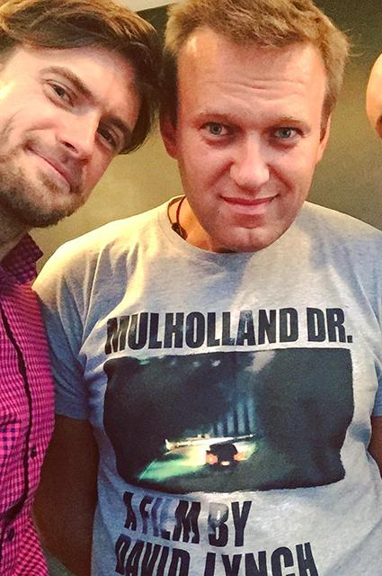 Петр Верзилов и Алексей Навальный