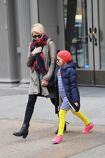 Мишель Уильямс с дочерью Матильдой
