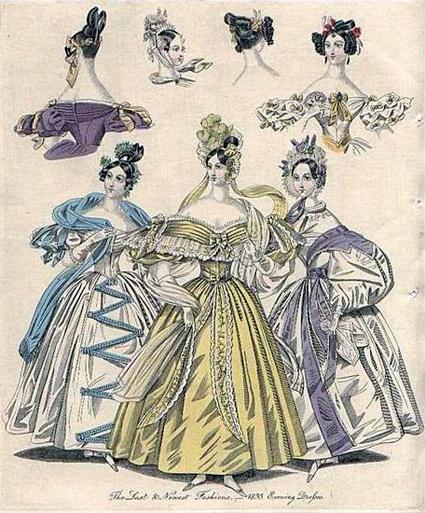 Платья в стиле бидермейер