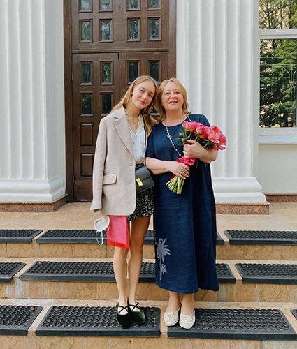 Наталья Михалкова со своим учителем