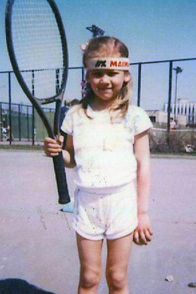 Анна Курникова начала играть в теннис с пяти лет