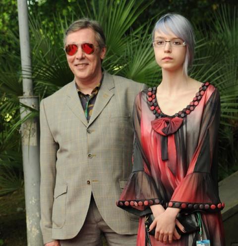 Михаил Ефремов и его дочь Анна Мария