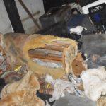 57330 Привязав свою собаку к старой мебели, хозяин бросил ее в доме