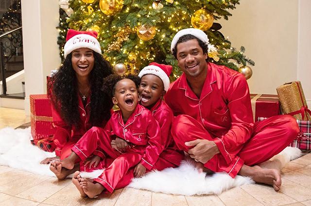 Сиара и Расселл Уилсон с детьми
