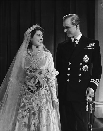 Свадьба принцессы (будущей королевы) Елизаветы и принца Филиппа, 1947 год