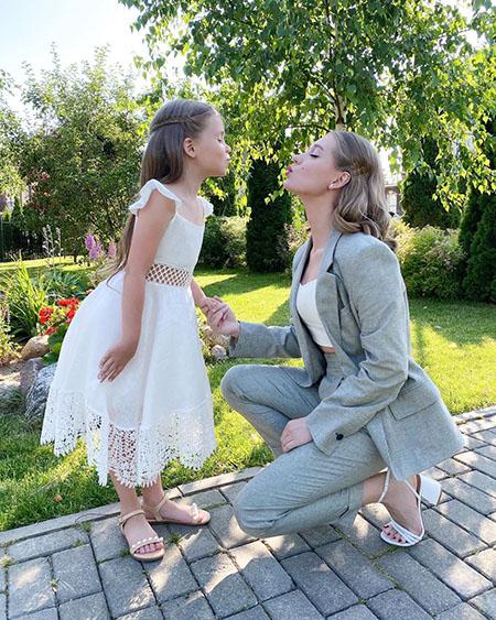 Кристина Асмус с дочерью