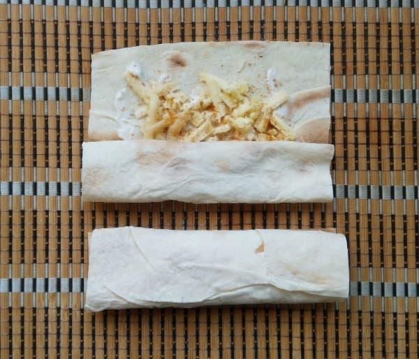 Сырная закуска в лаваше в духовке