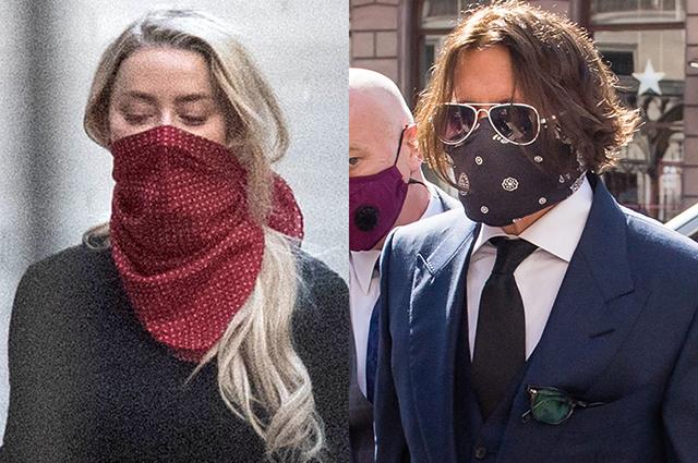 59081 Эмбер Херд и Джонни Депп прибыли в суд Лондона на заседание по делу о клевете