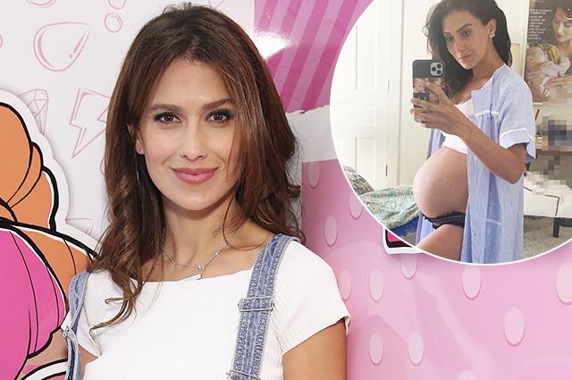 59471 В ожидании пятого ребенка: беременная Хилария Болдуин показала новое фото в нижнем белье