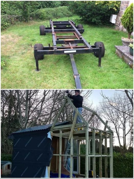 Студент захотел съехать от родителей и построил себе маленький коттедж на колесах