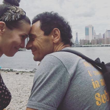 Наталья Орейро с мужем Рикардо Мольо