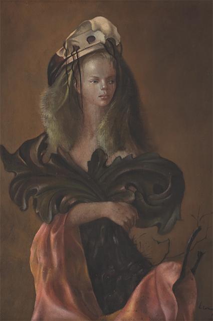 """""""Портрет женщины с листьями аканта"""", 1946 год"""