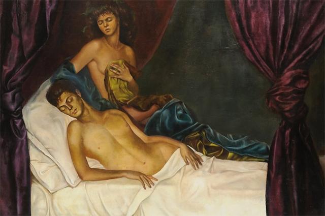 """""""Альков. Автопортрет с Нико Папатакисом"""", 1941 год"""
