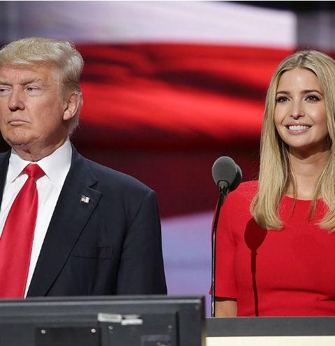 Дональд Трамп с дочерью Иванкой