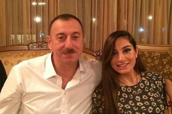 Ильхам Алиев с младшей дочерью