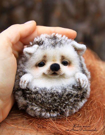 Художница Анна Романова создает очень милых войлочных животных. Вы только посмотрите на этих очаровашек